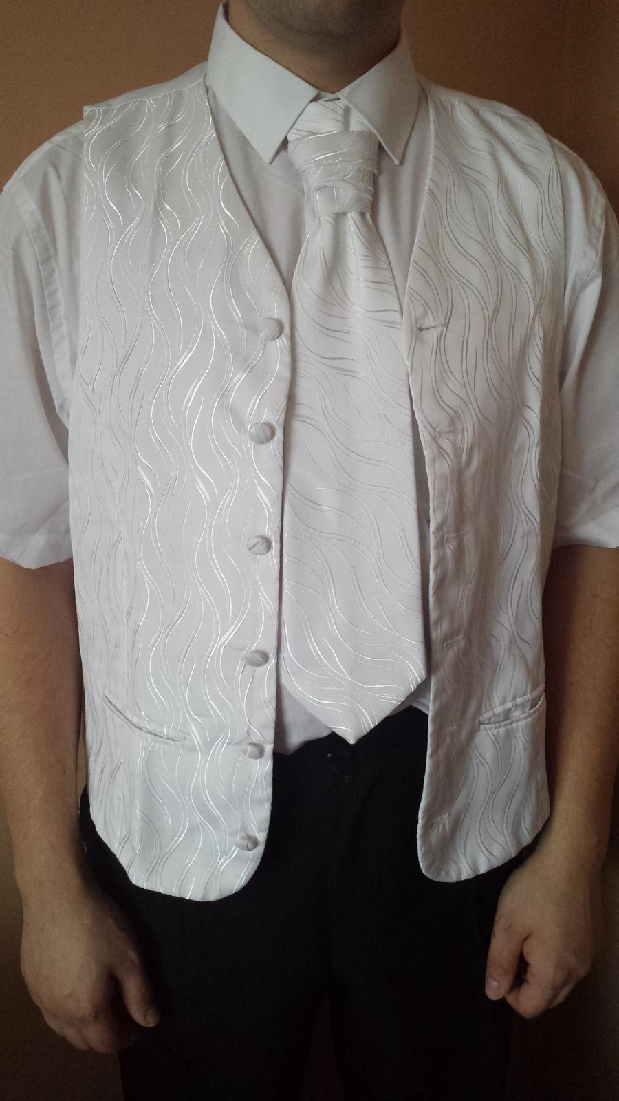 Francúzska kravata, vesta a vreckovka - Obrázok č. 2