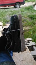 Moja špeciálna urobená obuv.