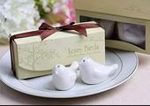 Darčeky pre hostí - love birds korenička+solnička,