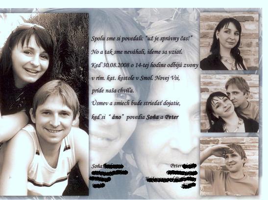 Sona a petko - naše krásne oznamko:-)