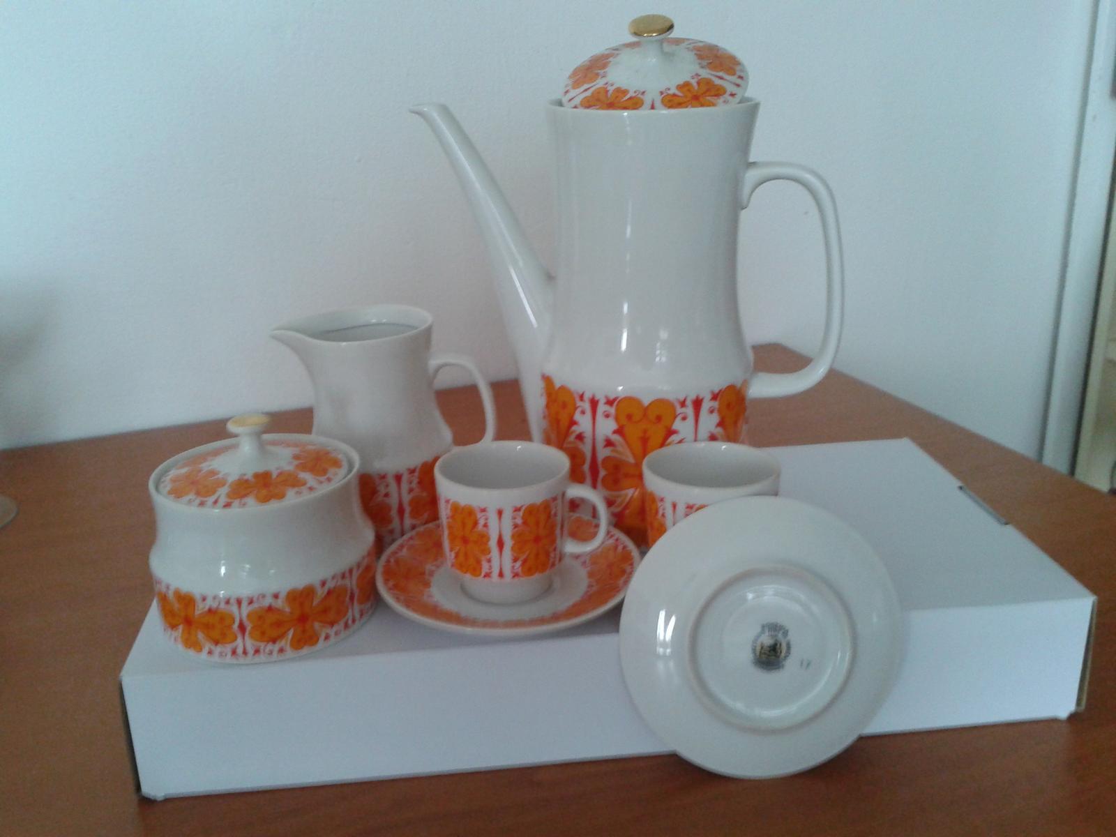 Mokka sada pre 12 osôb, karlovarský porcelán - Obrázok č. 1