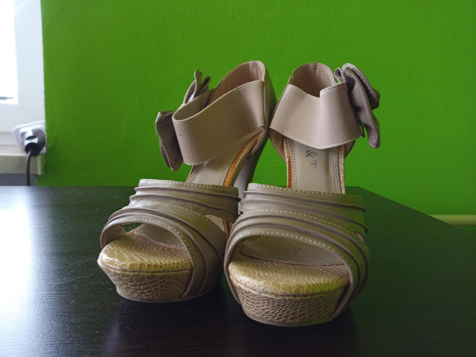Béžové sandále - Obrázok č. 1