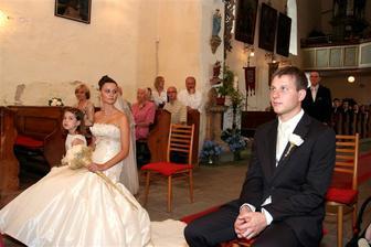 Šárka a její svatba 2.8. v Klášterci nad Orlicí