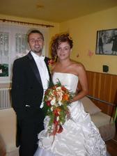 Marcelka a její svatba 16.8. na hradě Kašperk
