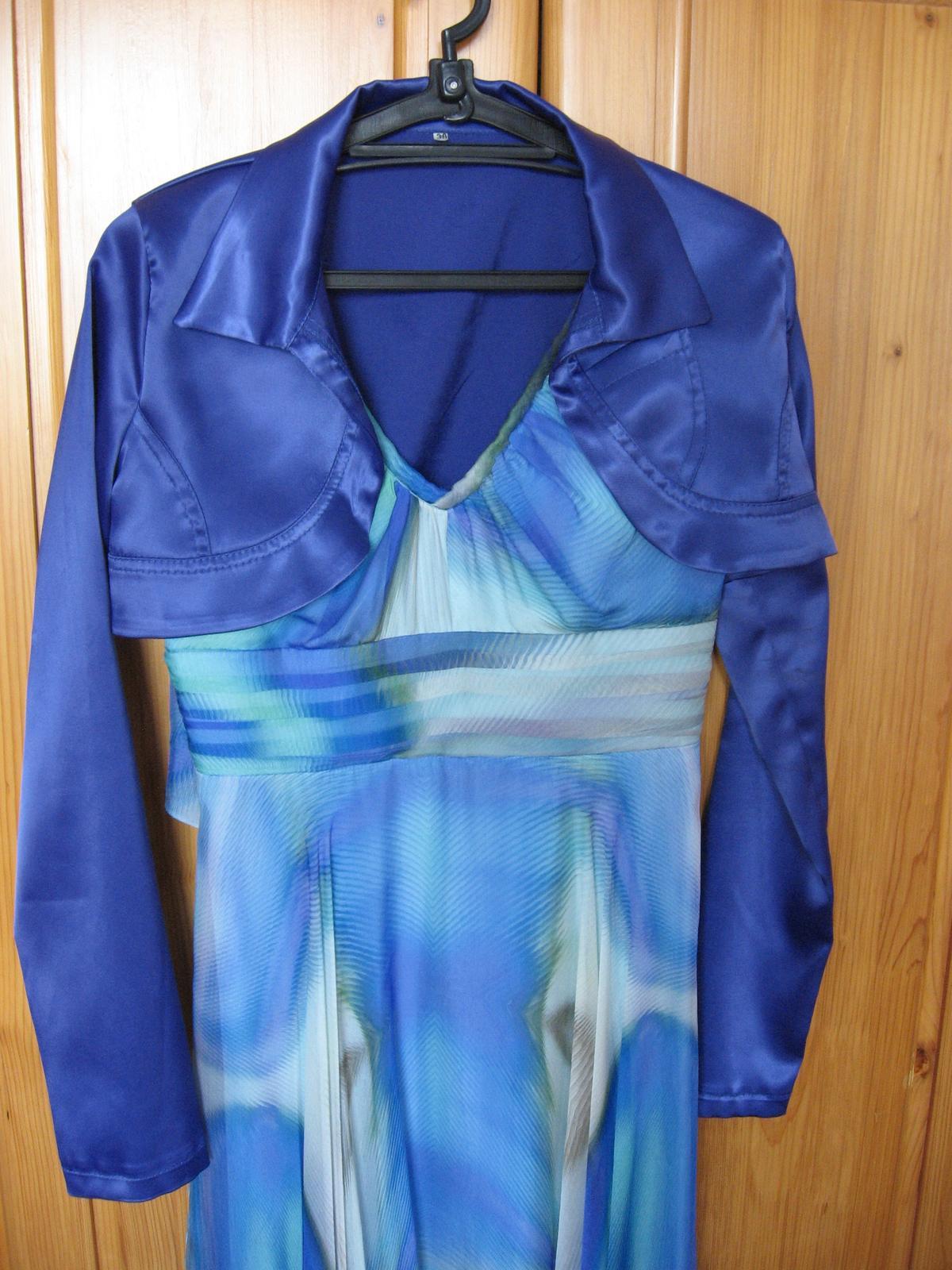 Hodvábne farebné šaty - Obrázok č. 4