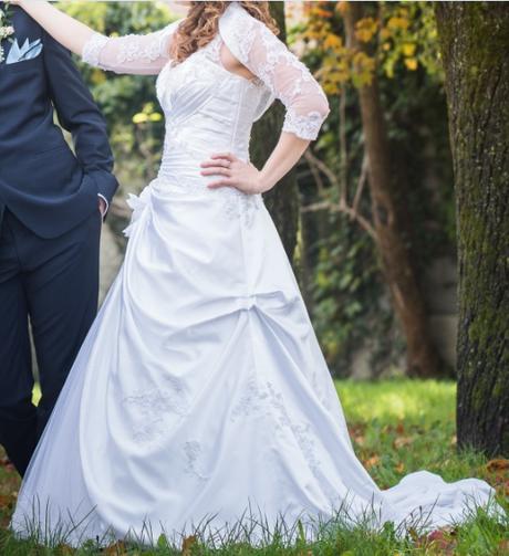 Svadobné šaty na ramienkach - Obrázok č. 3