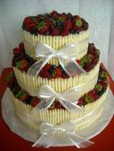 Trubičky na dort z bílé čokolády,