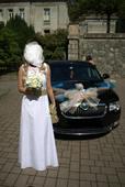 Luxusní svatební šaty s krajkou vel.38, 38