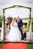 Svatební šaty korzetové, vel. 38 - 40, 40