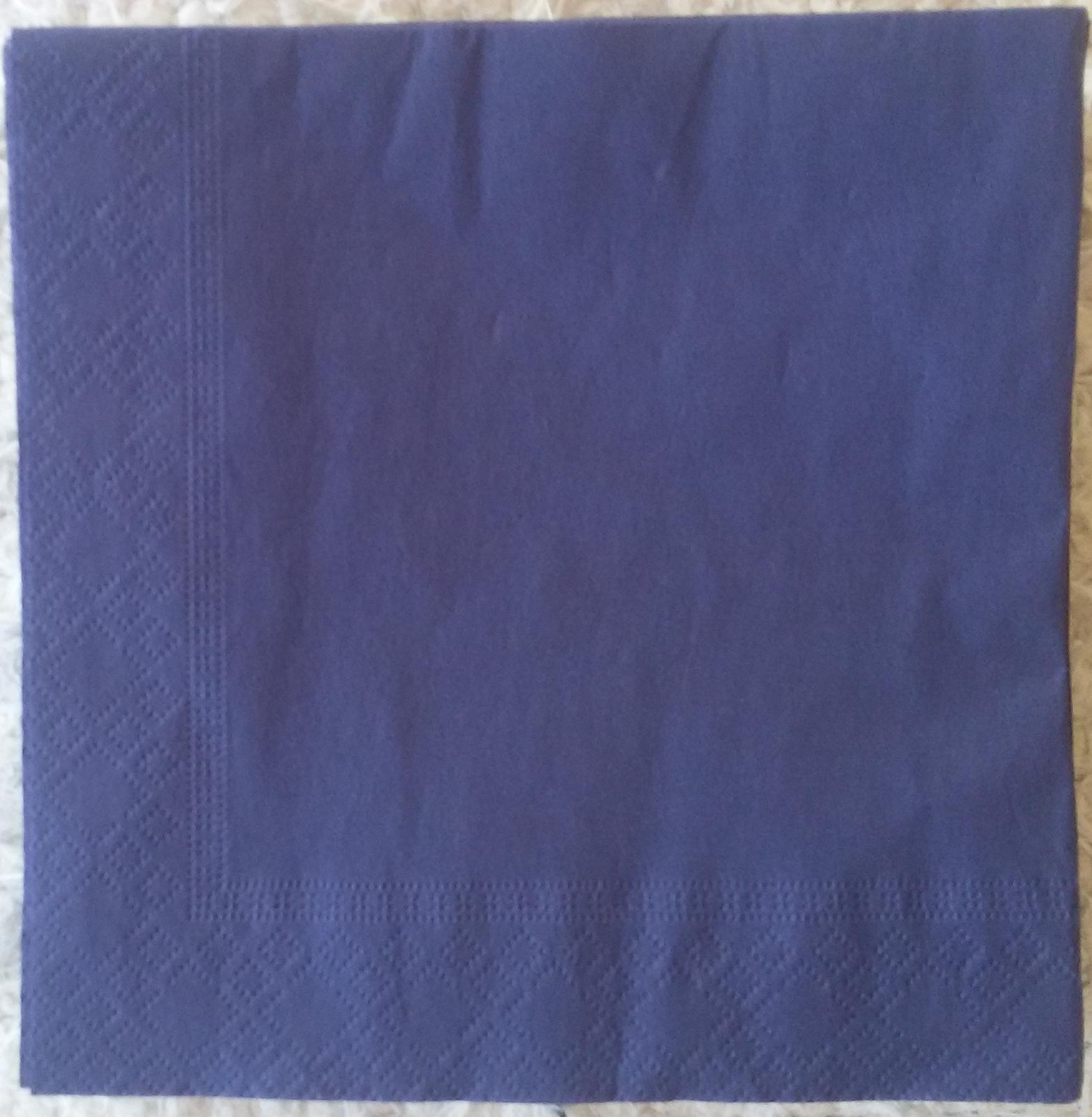 tmavě modré ubrousky - Obrázek č. 1