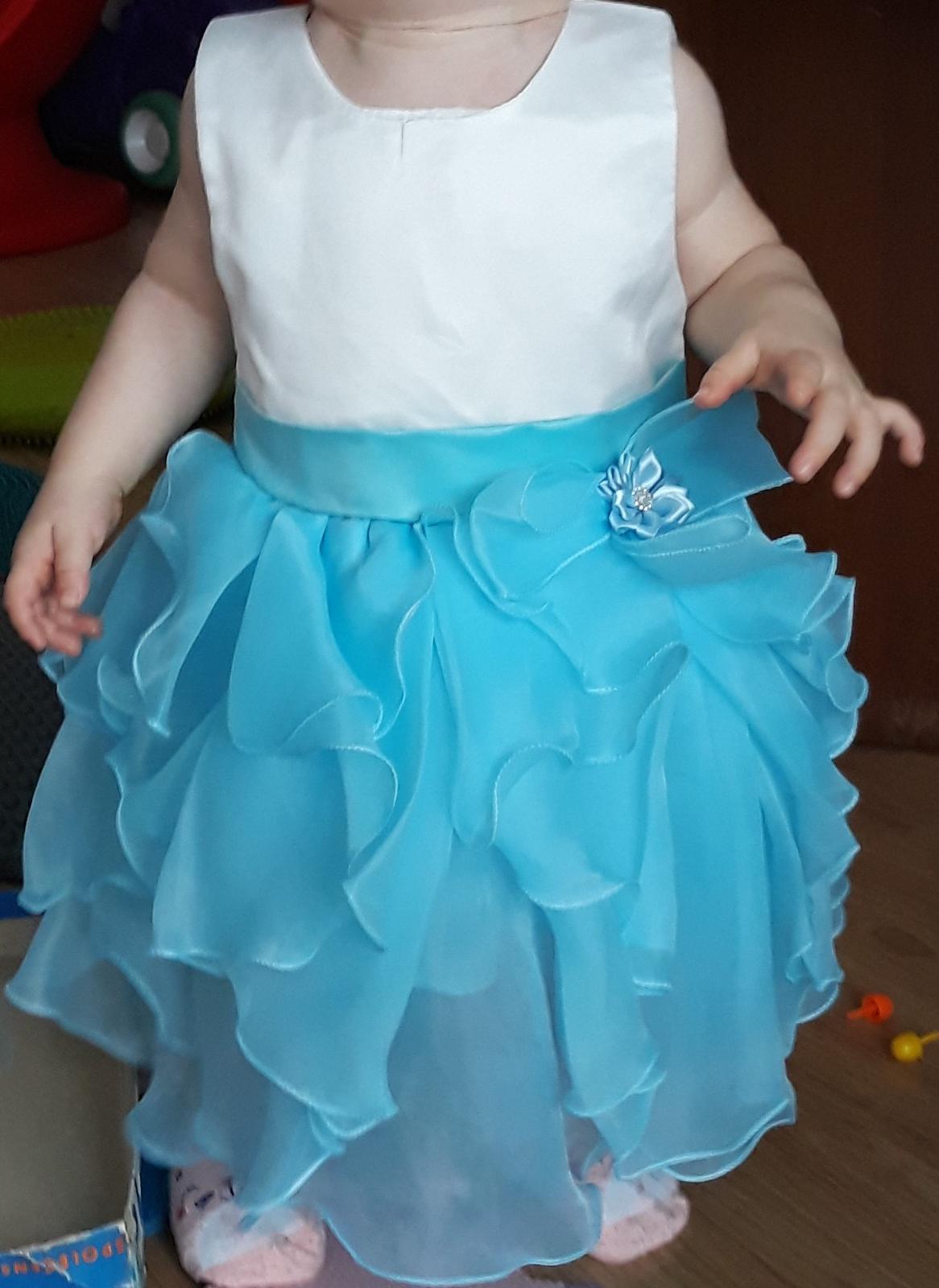 šaty pro princeznu od 8 měsíců do 2 let - Obrázek č. 1