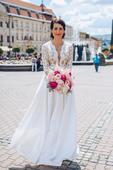 svadobné šaty s vreckami, 36