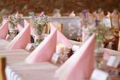 Dekorace na svatbu - růžová,