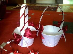 košíčky na stužky