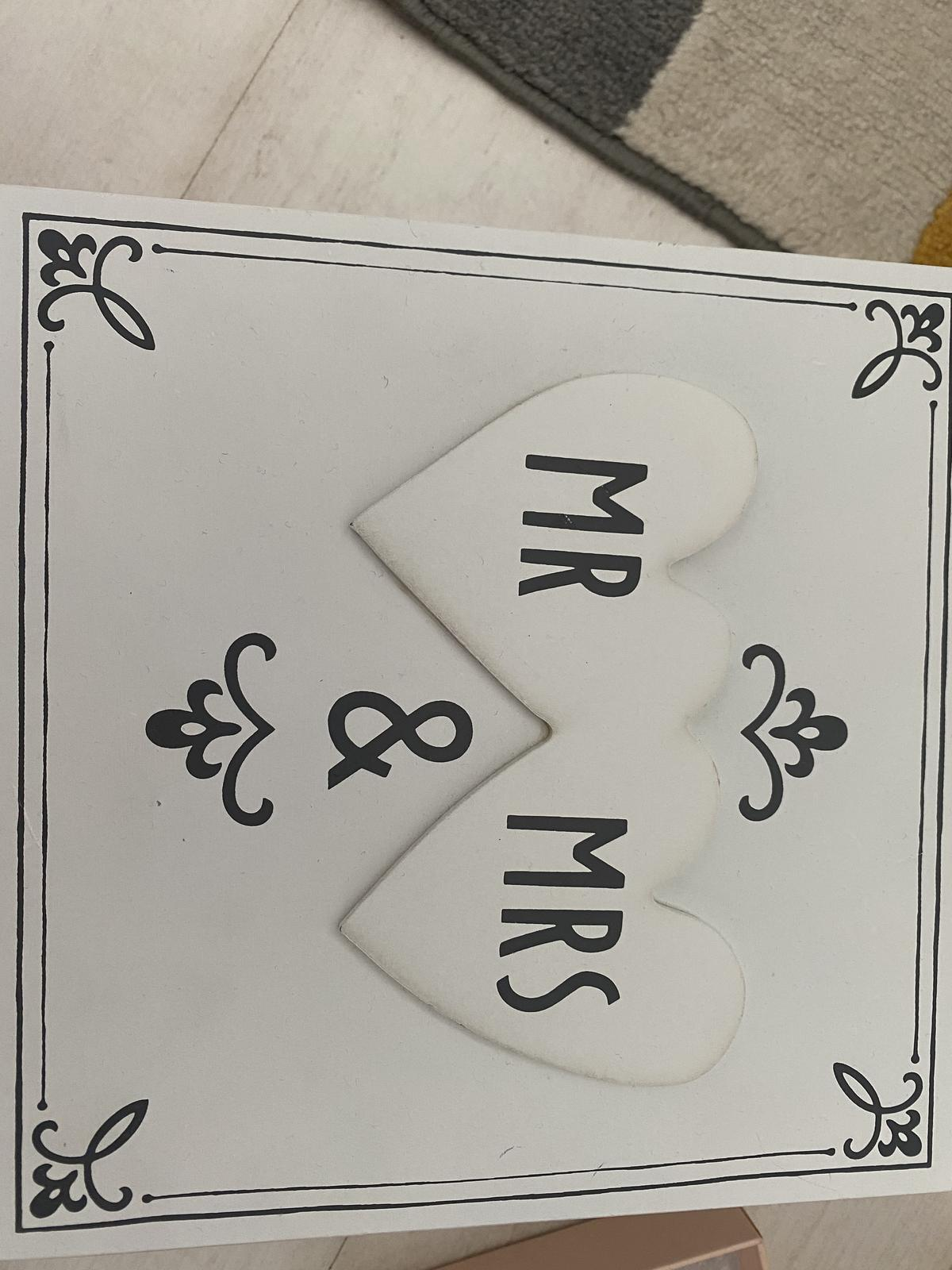drevená krabička mr & mrs - Obrázok č. 3