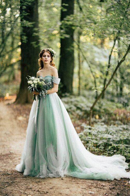 Barevné svatební šaty - Obrázek č. 2