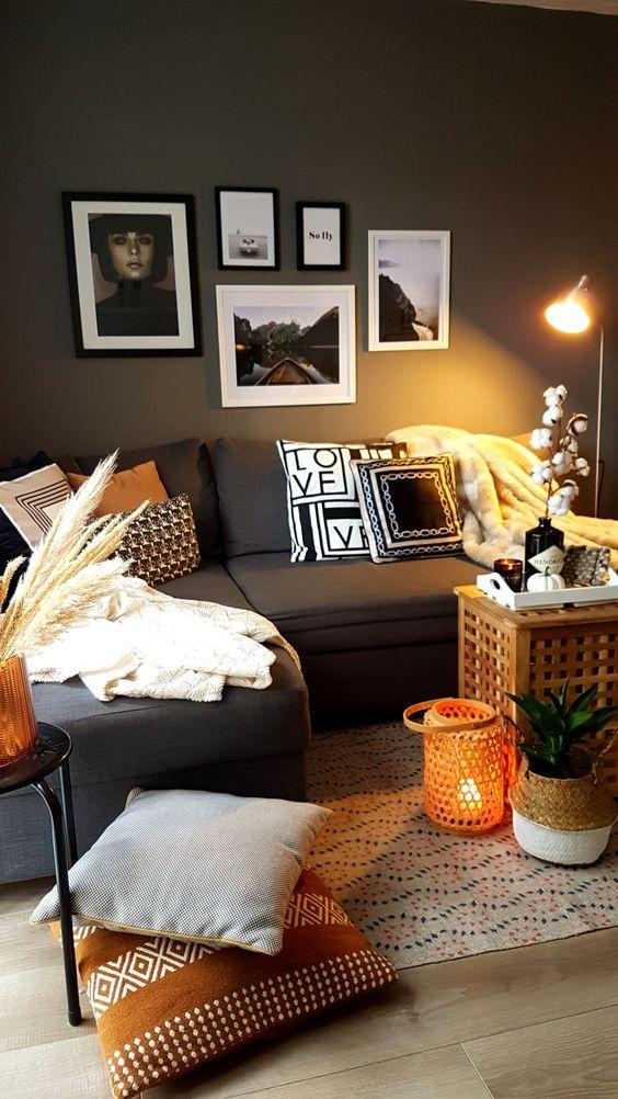 Podzimní dekorace v obývacím pokoji - Obrázek č. 18