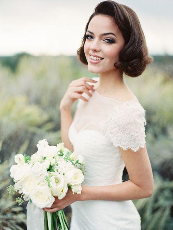 Svatební účes pro krátké vlasy - Obrázek č. 11