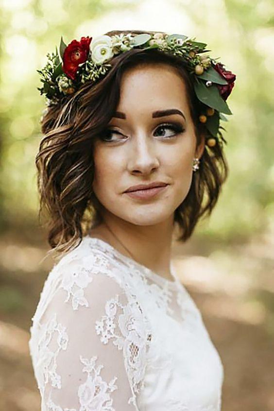 Svatební účes pro krátké vlasy - Obrázek č. 2