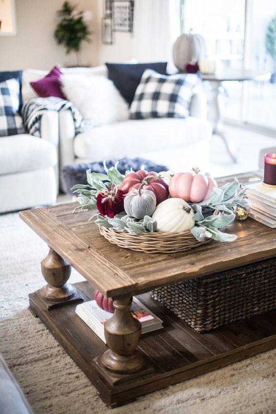 Podzimní dekorace v obývacím pokoji - Obrázek č. 45