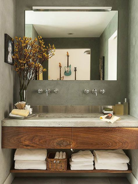 Inspirace: Dvojité umyvadlo v koupelně - Obrázek č. 4