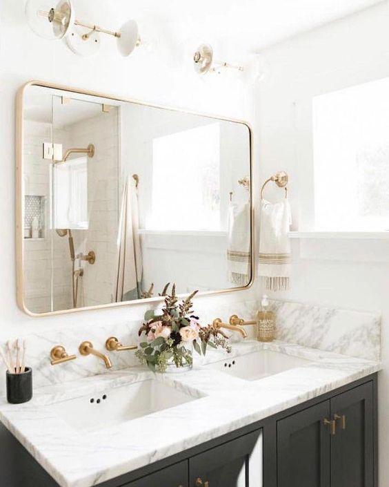 Inspirace: Dvojité umyvadlo v koupelně - Obrázek č. 6