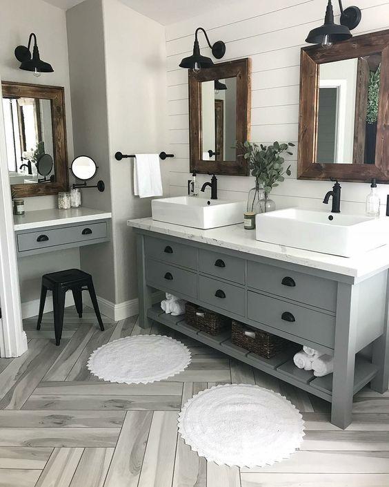 Inspirace: Dvojité umyvadlo v koupelně - Obrázek č. 5