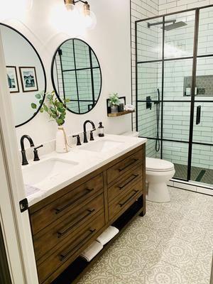 Inspirace: Dvojité umyvadlo v koupelně - Obrázek č. 1