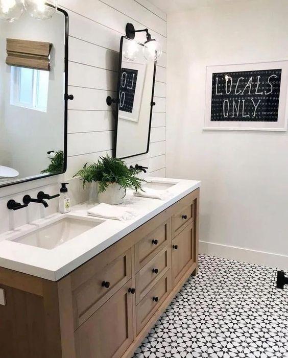 Inspirace: Dvojité umyvadlo v koupelně - Obrázek č. 7