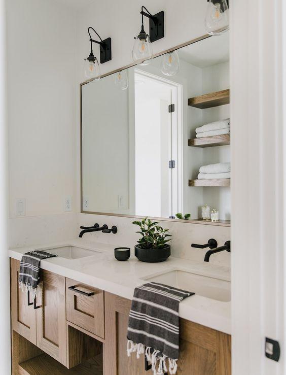 Inspirace: Dvojité umyvadlo v koupelně - Obrázek č. 12