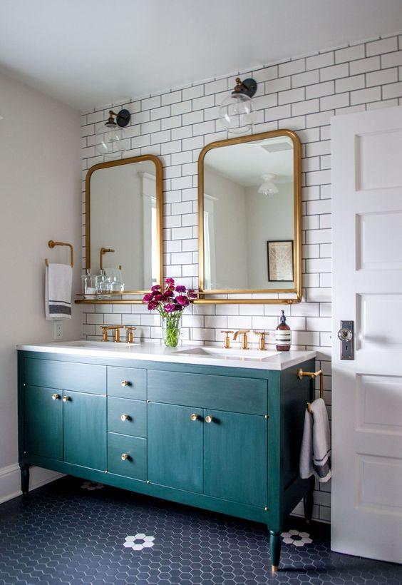 Inspirace: Dvojité umyvadlo v koupelně - Obrázek č. 3
