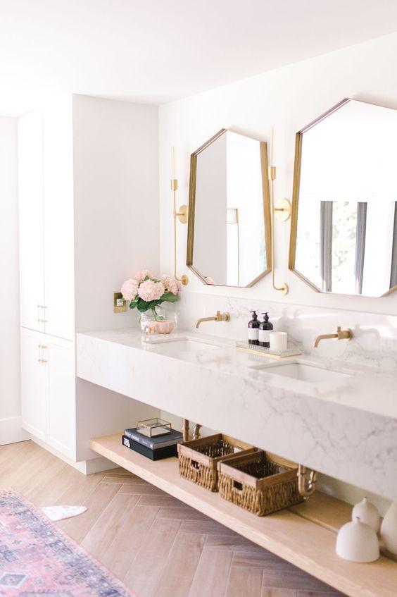 Inspirace: Dvojité umyvadlo v koupelně - Obrázek č. 14