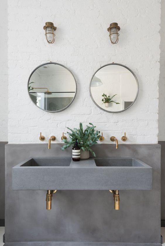 Inspirace: Dvojité umyvadlo v koupelně - Obrázek č. 16