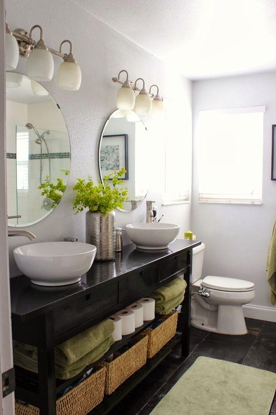Inspirace: Dvojité umyvadlo v koupelně - Obrázek č. 9