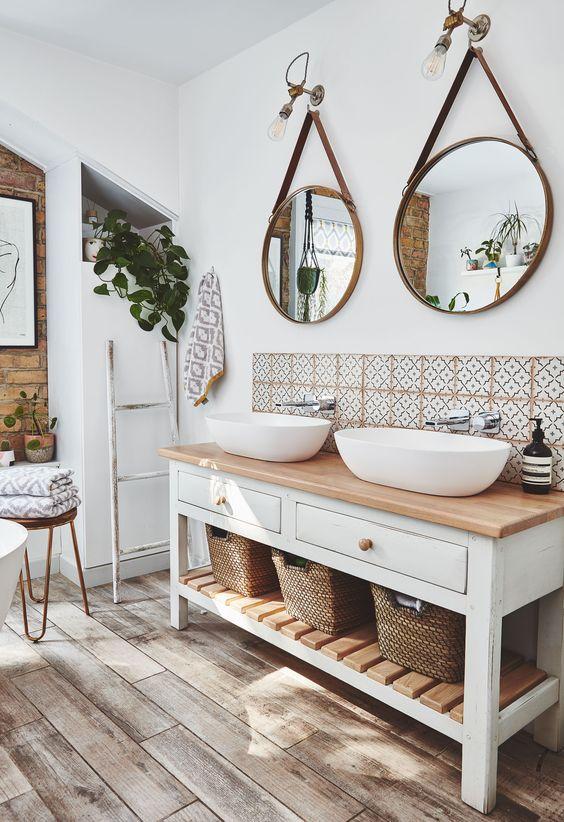 Inspirace: Dvojité umyvadlo v koupelně - Obrázek č. 17