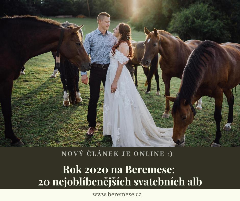 Svadobná sezóna 2020 je za nami a hoci sme sa poriadne potrápili a mnohí z nás museli termín svadby presúvať alebo dočasne rušiť, sú medzi nami aj takí, ktorých sprísnené opatrenia obišli.👌 Rok 2020 bol veru zaujímavý.😉 Dokonca sme u nás mali aj pár malých ale krásnych svadobných obradov s rúškami, ktoré nakoniec dopadli nad očakávania.😍 Poďme si teda pripomenúť svadby, ktoré sa vám v tomto roku páčili najviac: https://www.beremese.cz/magazine/rok-2020-na-beremese-20-nejoblibenejsich-svatebnich-alb :) - Obrázek č. 1