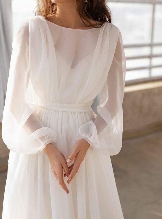Svatební šaty s rukávy - Obrázek č. 6