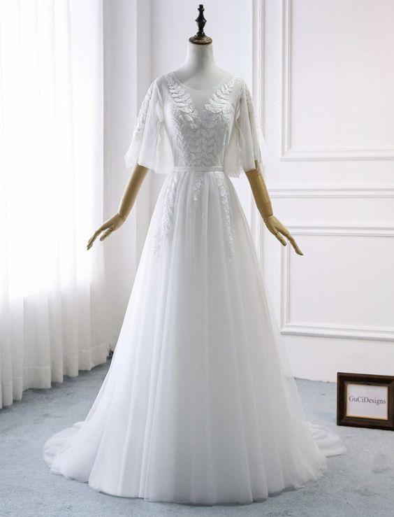 Svatební šaty s rukávy - Obrázek č. 7