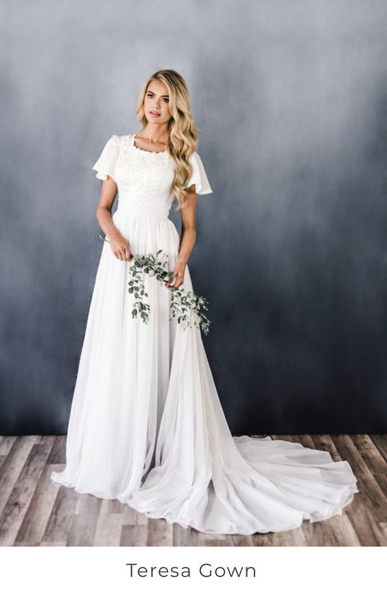 Svatební šaty s rukávy - Obrázek č. 9