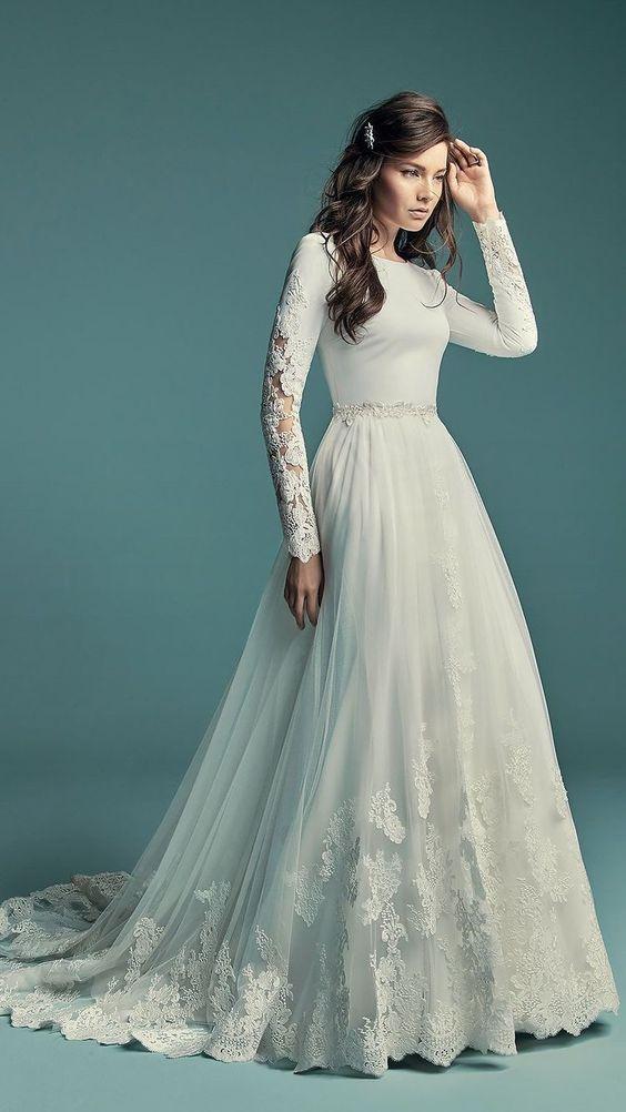 Svatební šaty s rukávy - Obrázek č. 8