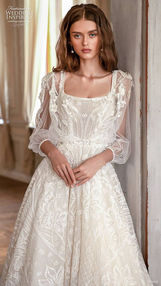 Svatební šaty s rukávy - Obrázek č. 12