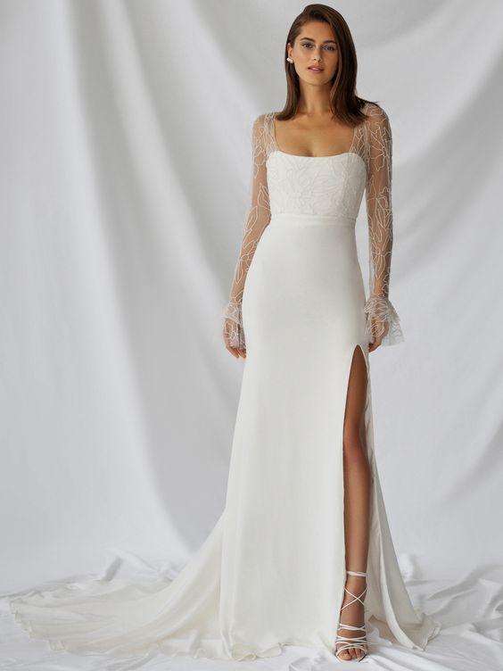 Svatební šaty s rukávy - Obrázek č. 17