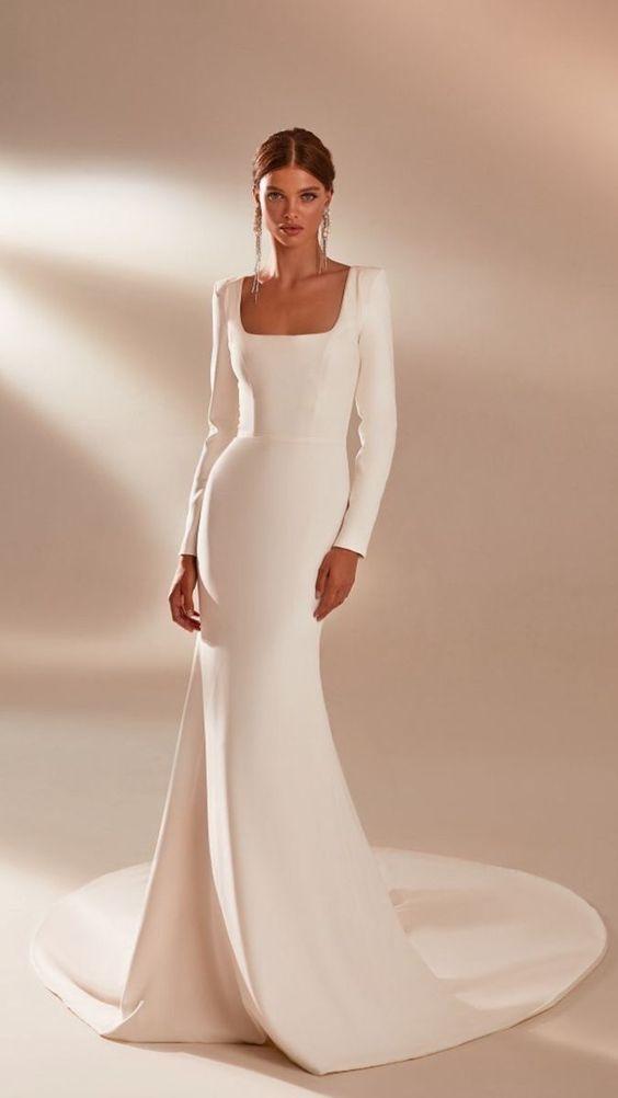 Svatební šaty s rukávy - Obrázek č. 22
