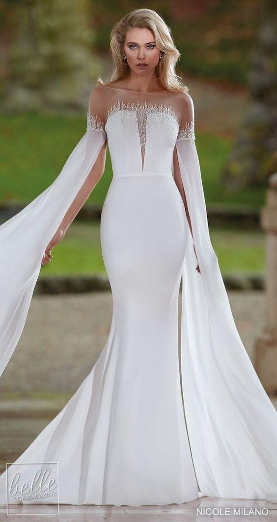 Svatební šaty s rukávy - Obrázek č. 15