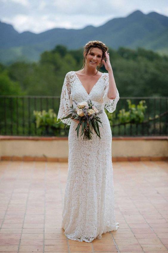 Svatební šaty s rukávy - Obrázek č. 16
