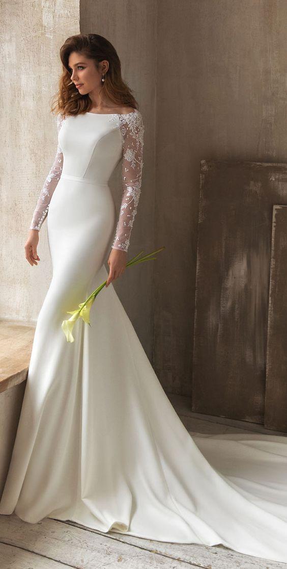 Svatební šaty s rukávy - Obrázek č. 26