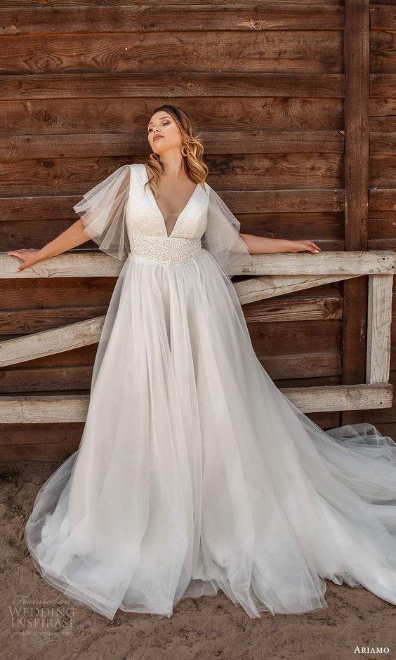 Svatební šaty s rukávy - Obrázek č. 24