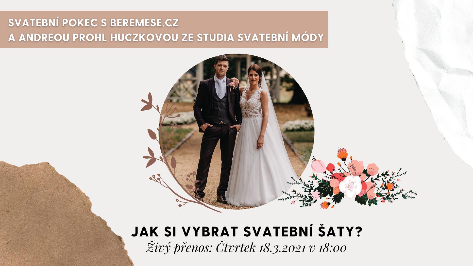 LIVE STREAM DNES, 18.3.2021 v 18:00 na našem Facebooku!😎 A kdo bude našim dalším hostem?🤔 Andrea Prohl Huczková ze @studiosvatebnimody❤️ Pokud si přejete zjistit víc o tom jak vybrat svatební šaty, nebo vás zajímají i další otázky ohledně výběru a trendů, podívejte se na náš živý přenos DNES (18.3.2021) v 18:00 zde: https://fb.me/e/21lzqgVHP ❤️ - Obrázek č. 1