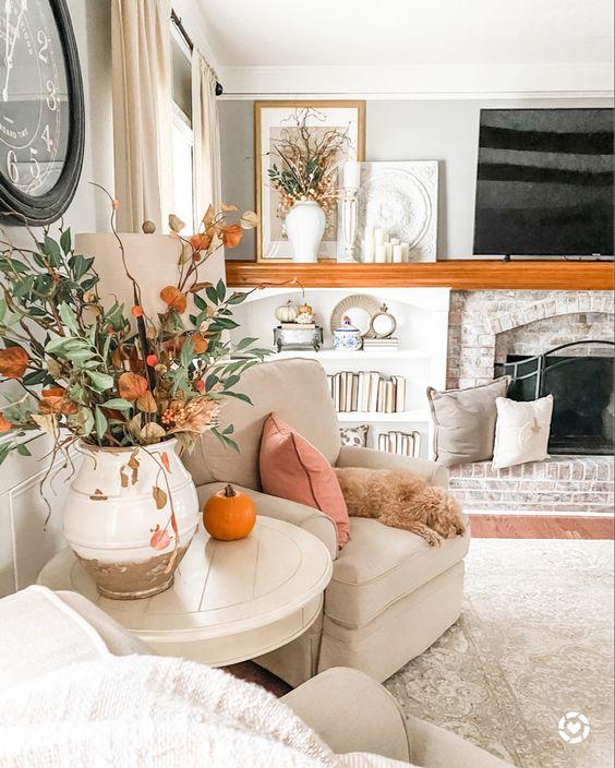 Podzimní dekorace v obývacím pokoji - Obrázek č. 50