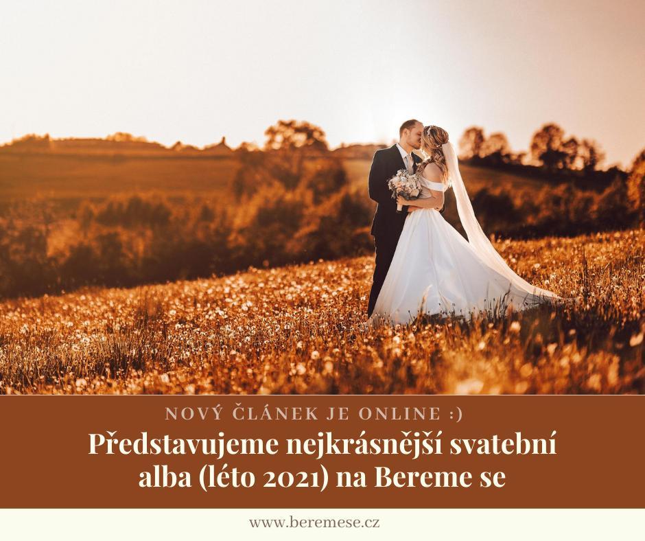 Dopřejme si ještě jedno příjemné ohlédnutí za létem.🥰☀️ Vybrala jsem pro vás ty nejkrásnější svatební alba našich skutečných nevěst, která by vám určitě neměla ujít.😍 Rok 2021 nebyl sice naplněn svatbami tak, jak jsme zvyklí, ale i přes nepříznivé situace na Bereme se přibylo množství skvělých alb.📸❤️ A právě těchto 9 dostalo od ostatních nevěst nejvíce označení Líbí se mi to: https://www.beremese.cz/magazine/predstavujeme-nejkrasnejsi-svatebni-alba-leto-2021-na-bereme-se ✍️ - Obrázek č. 1